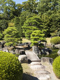 Stone bridge over Nijo-jo Castle pond Royalty Free Stock Photography