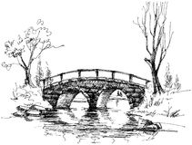 Stone bridge over river Royalty Free Stock Image