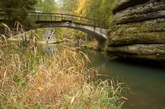 Stone bridge over river Royalty Free Stock Images