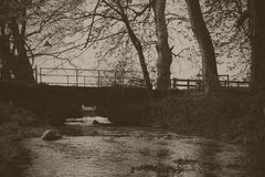Stone bridge over the river Misbourne Royalty Free Stock Image