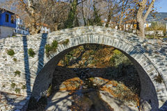 Stone bridge over small river in Moushteni near Kavala, East Macedonia and Thrace Stock Photos