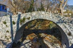 Stone bridge over small river in Moushteni near Kavala, East Macedonia and Thrace Stock Photos