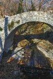 Stone bridge over small river in Moushteni near Kavala, East Macedonia and Thrace Stock Photo