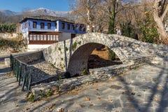 Stone bridge over small river in Moushteni near Kavala,  Greece Royalty Free Stock Image