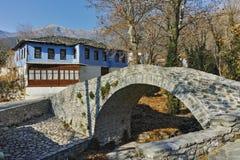 Stone bridge over small river in Moushteni near Kavala, Greece Stock Photo