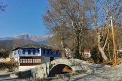 Stone bridge over small river in Moushteni near Kavala, Greece Stock Photography