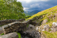 Stone bridge over a stream in the lake district Royalty Free Stock Photo