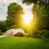 Stone bridge over stream Royalty Free Stock Image