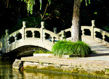 Stone bridge over West Lake Stock Photography