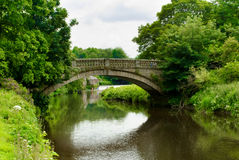 Stone bridge over the White Cart Water in Pollok Country Park in Royalty Free Stock Image