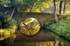 Stone bridge in a park royalty free stock photos