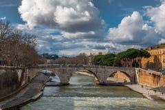 Stone bridge Pons Cestius Royalty Free Stock Images