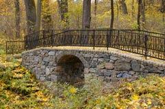 Stone bridge railing Stock Image