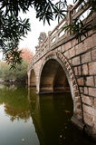 Stone bridge reflecting  in the water Royalty Free Stock Photo