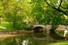 Stone Bridge Reflections. Stone bridge over a creek royalty free stock photo