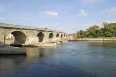 Stone Bridge of Regensburg Stock Photography