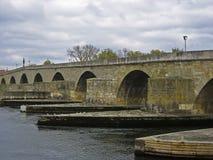 The Stone Bridge in Regensburg Stock Photo