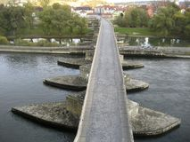 The Stone Bridge in Regensburg Stock Photography