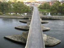 The Stone Bridge in Regensburg Stock Photography