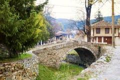 Stone bridge  in the  revival city of  Koprivshtitza Stock Image