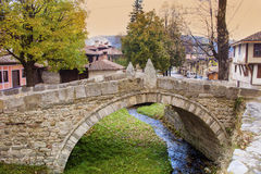 Stone bridge  in the  revival city of  Koprivshtitza Royalty Free Stock Photo