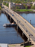 Stone Bridge in Riga royalty free stock photography