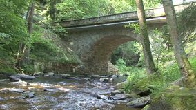 Stone Bridge on the River stock footage