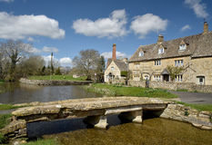 Stone bridge, River Eye, Lower Slaughter Royalty Free Stock Image