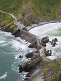Stone bridge in San Juan de Gaztelugatxe Stock Photography