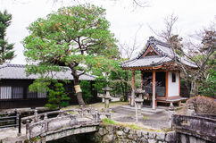 Stone bridge and shrine japanese style in kiyomizu-dera temple, Royalty Free Stock Photos
