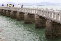 Stone bridge of shuzhuang garden Royalty Free Stock Photos