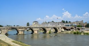 Stone Bridge in Skopje.Macedona Royalty Free Stock Photos