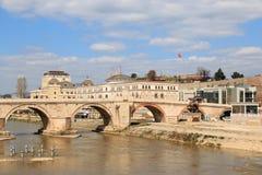 Stone Bridge in Skopje, Macedonia Royalty Free Stock Photos