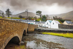 Stone bridge in a small Ireland town Royalty Free Stock Images