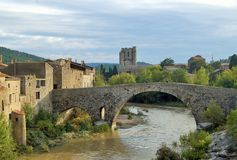 Stone bridge. In a small villaga in South france Royalty Free Stock Images