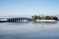 Stone bridge at Summer Palace stock images