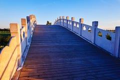 The stone bridge sunset Stock Image