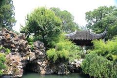 A stone bridge. In Suzhou Garden royalty free stock photo