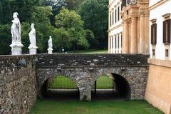 Stone Bridge to Castle. A bridge over the moat. Taken at Schloss Eggenberg in Graz, Austria Stock Images