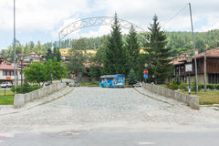 Stone bridge tourist in Koprivshtitsa, Bulgaria Stock Photos