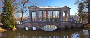 Stone Bridge in Tsarskoye Selo near St. Petersburg Royalty Free Stock Photo