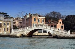 Stone bridge in Venice Stock Photo