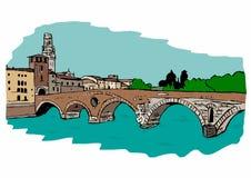 Stone Bridge,Verona Royalty Free Stock Image