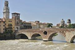 The stone bridge of Verona Stock Photos