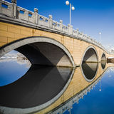 Stone bridge in the winter. Stock Images