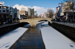 Stone bridge in winter - Kastamonu Stock Images