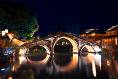 Historical Stone Bridge in Wuzhen, China. This the most famous symbol in Wuzhen. Wuzhen is located in Zhejiang Province, China. Its a famous small town for Royalty Free Stock Photography