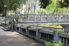 Stone bridge of zhongshan park Royalty Free Stock Photography