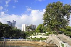 Stone bridge in zhongshan park Stock Photography