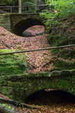 Stone bridges in forest Royalty Free Stock Photos